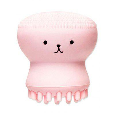 Cartoon Octopus Double Ended Silicone Facial Cleansing Brush