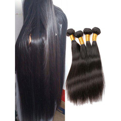 4Pcs Brazilian Straight Human Hair Weaves