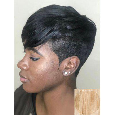 Inclined Fringe Short Pixie Cut Straight Human Hair Wig