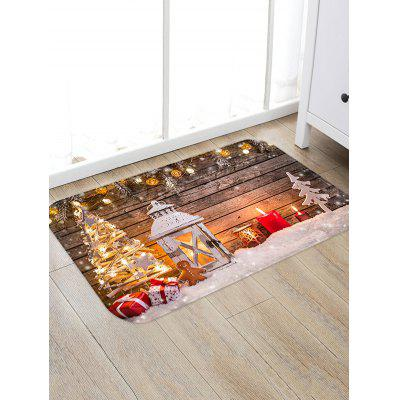 Christmas Lantern Gifts Pattern Anti-skid Water Absorption Area Rug