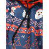 Layered Christmas Elements Print Hoodie - MIDNIGHT BLUE