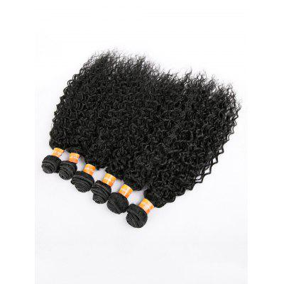 6Pcs Medium Kinky Curly Synthetic Hair Weaves
