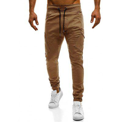 Pantalon Cargo Poches Design à Cordon