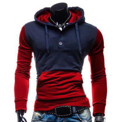 Trendy Cotton Spliced ​​Hoodie
