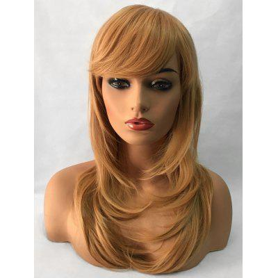 Inclined Bang Long Tail Adduction Straight Synthetic Wig