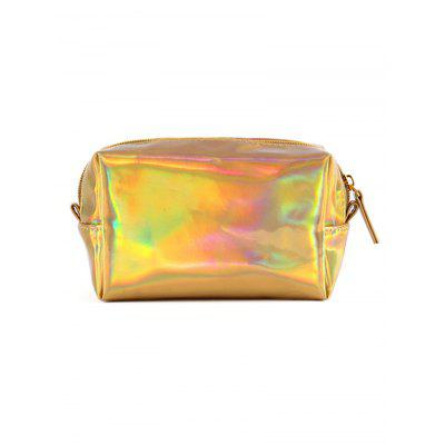Colored Laser Pattern Shiny Cosmetic Pouch Bag