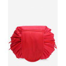 Solid Color Cosmetic Large Capacity Toiletry Bag