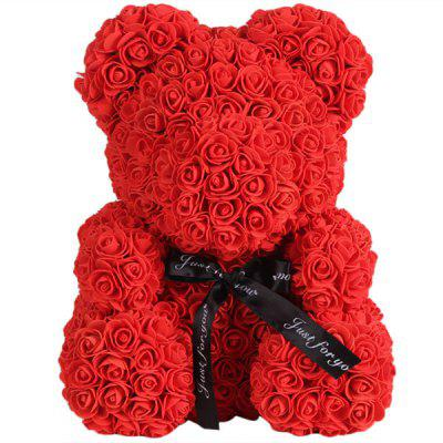 GearBest Coupon: Only $14.99 for Valentine Day Gift Artificial Roses Bear Wedding Party Decoration