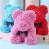 Valentine Day Gift Artificial Roses Bear Wedding Party Decoration - RED