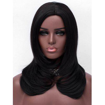 Long Side Parting Tail Adduction Straight Synthetic Wig