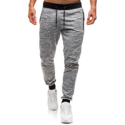 Side Zipper Pocket Casual Jogger Pants