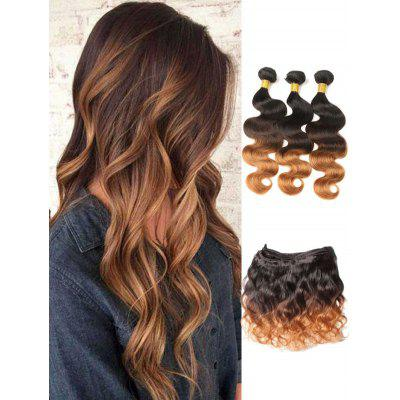 Indian Virgin Human Hair Ombre Body Wave Hair Weaves