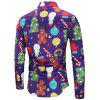 Christmas Theme Button Up Shirt - PURPLE