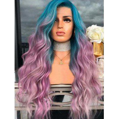 Long Colorful Wavy Cosplay Synthetic Wig