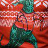 Christmas 3D Dinosaur Printed Crew Neck T-shirt - MULTI