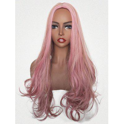 Long Colormix Middle Part Party Wavy Synthetic Wig
