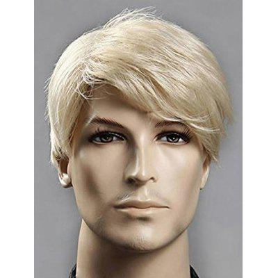 Short Side Bang Straight Synthetic Men Wig
