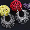 Vintage U Shape Coin Decorated Ethnic Style Earrings - SILVER