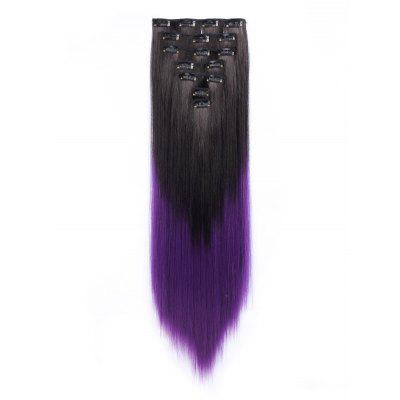 Long Ombre Straight Clip In Hair Pieces