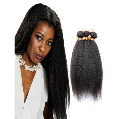 Human Hair Kinky Straight Brazilian Virgin Hair Weaves