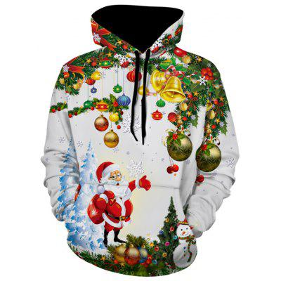Santa Christmas Tree Jingle Bells Christmas Hoodie