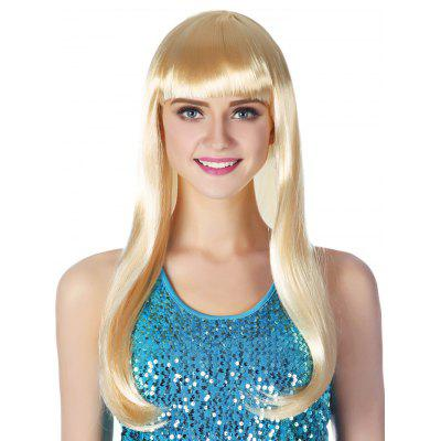 Full Bang Long Straight Party Cosplay Synthetic Wig