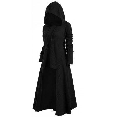 e90d017c97531 Hot Item Hooded Plus Size High Low Sweater