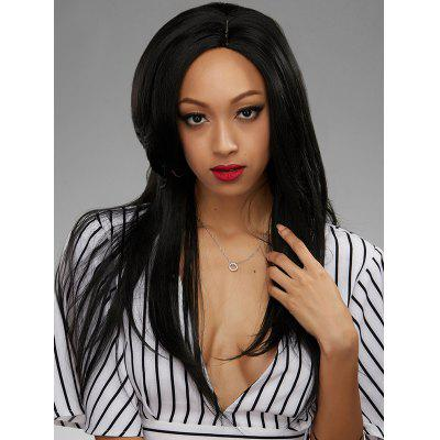 Side Parting Straight Human Hair Lace Front Wig