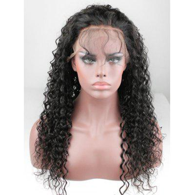 Free Part Kinky Curly Human Hair Lace Front Wig