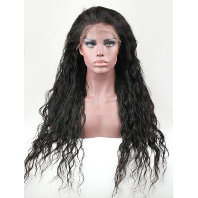 Real Human Hair Natural Wavy Lace Front Wig