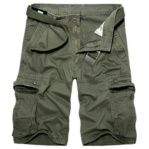 S-Fly Mens Loose Fit Multi Pockets Camo Print Straight Sports Cargo Shorts