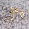 6PCS of Chic Women's Round Solid Color Rings - GOLDEN
