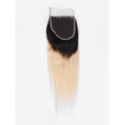 Ombre Straight Human Hair Lace Closure