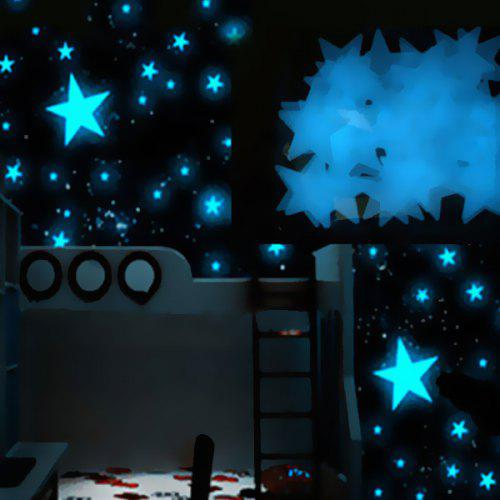 Chic 3CM 100Pcs Luminous Star Wars Wall Decals