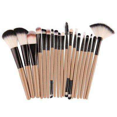 18-delige gezichts make-up kwasten set