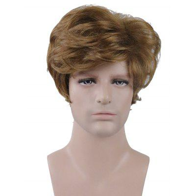 Short Side Bang Natural Straight Capless Synthetic Men Wig