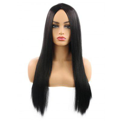 Center Parting Straight Long Cosplay Party Synthetic Wig