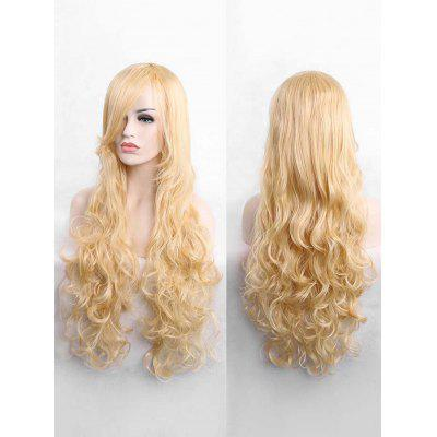 Long Side Bang Wavy Cosplay Capless Synthetic Wig