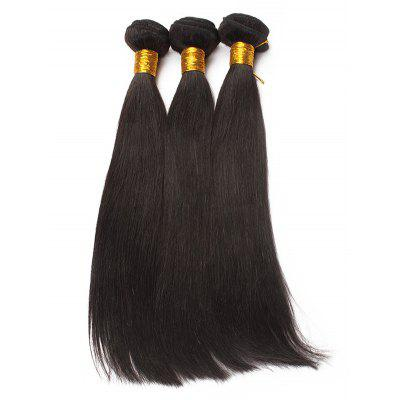 3Pc Peruvian Virgin Straigth Human Hair Weaves