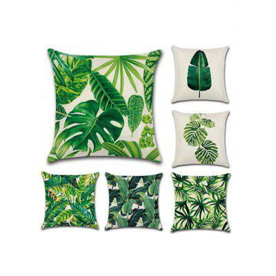 6PCS Leaf Printed Pillow Cover