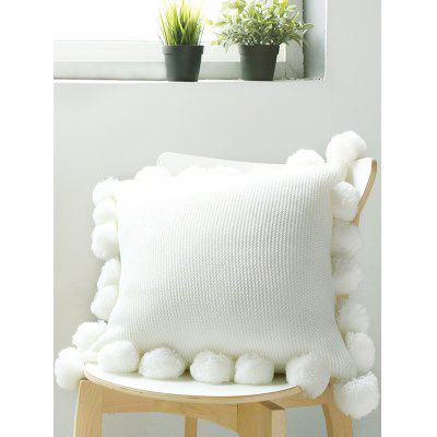 Tassel Ball Embellished Pillow Cover