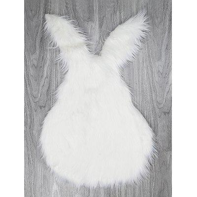 Home Decor Fluffy Rabbit Shape Area Rug