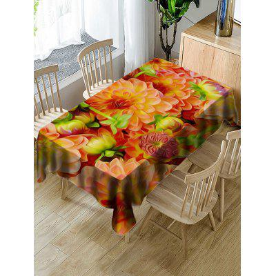 Decorative Flowers Print Waterproof Table Cloth