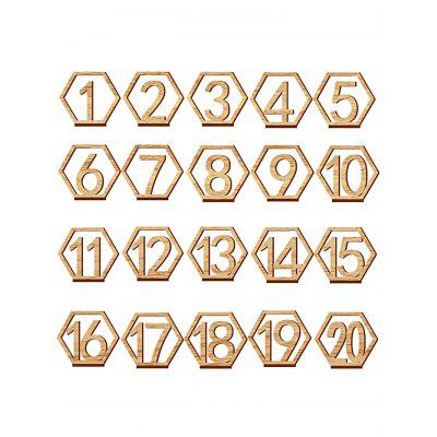 20 Pcs Wood Table Numbers