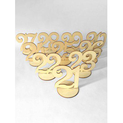 No.21 to 30 Wood Table Numbers