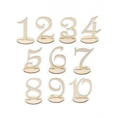 10 Pcs Wood Table Numbers