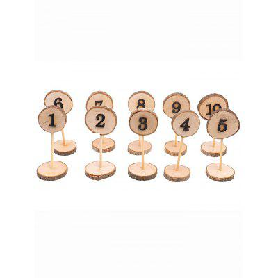 10 Pcs Wooden Table Numbers