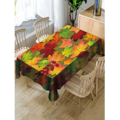 Waterproof Decorative Leaves Print Table Cloth