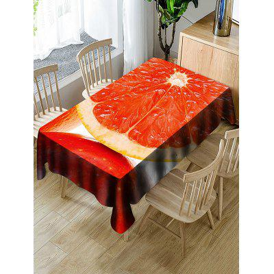 Fruit Orange Print Waterproof Table Cloth