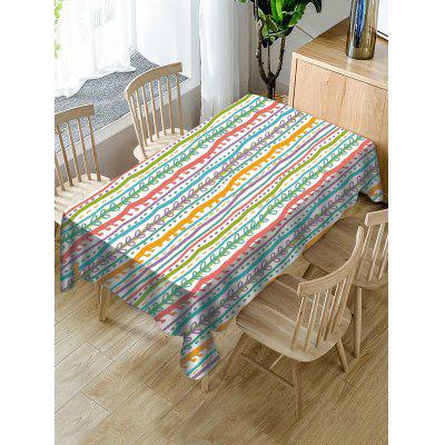 Striped Print Decorative Waterproof Table Cloth